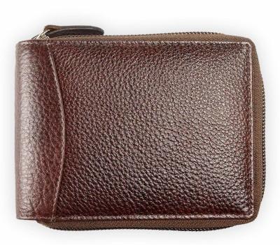 Smartlife Boys Brown Genuine Leather Wallet(9 Card Slots)