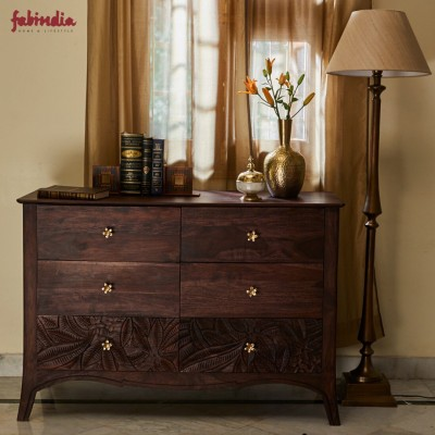 Fabindia Solid Wood Free Standing Cabinet(Finish Color - Brown)