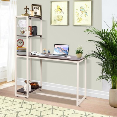 TREVI Trevi Perth Study Cum Engineered Wood Computer Desk(L-shaped, Finish Color - White)