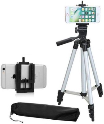 AONEQUALITY WORLD Tripod 3110 Stand Mobile Phone Video Camera Tripod Tripod(Silver color, Supports Up to 1500 g)