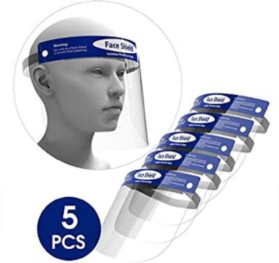 PRECLUSIVE 5 Face Shield Reusable Safety Face Shield Anti-fog Full Face Shield Universal Face Protective Visor for Eye Head Protection Full Face Shield Mask Eyes Nose Protection Face Shield Mask Safety Safety Visor(Size - M)