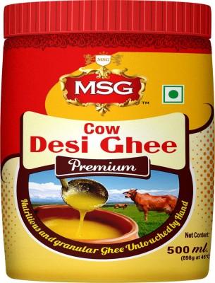MSG Premium Cow Desi Ghee 500 ml Plastic Bottle