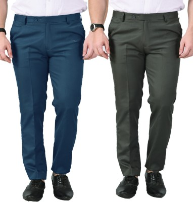 AD & AV Regular Fit Men Multicolor Trousers