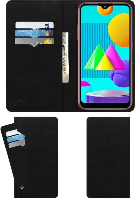 ACM Flip Cover for Samsung Galaxy M01(Black, Cases with Holder)