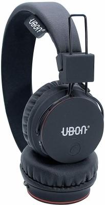 Ubon BT-5720 Rapstar Wireless 5.0 On Ear Headphone 10 Hrs Playtime with Mic/Aux/TF Card Slot Bluetooth Headset(Black, On the Ear)