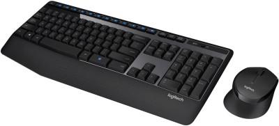 Logitech MK345 Mouse   Wireless Laptop Keyboard Black Logitech Keyboards