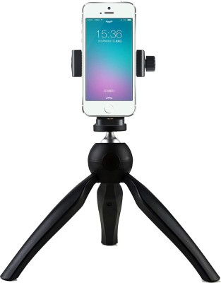 Wonder World X-22 Table Top Stand Tripod and Grip Stabilizer for Gopro Tripod(Dense Brown, Supports Up to 1721 g)