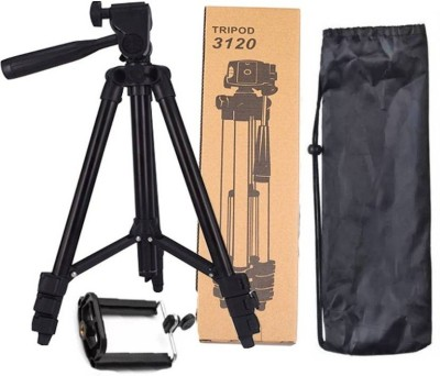 Wonder World ™ X-212 3120 Mobile Universal Portable Foldable Professional Stand Tripod(Dense Grey, Supports Up to 1863 g)