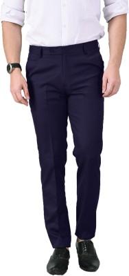 AD & AV Regular Fit Men Dark Blue Trousers