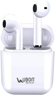 Ubon BT-200 Wireless Earbuds|Built-in 10hrs Backup Bluetooth Headset(White, True Wireless)
