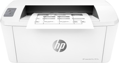 HP Jet Pro M17a Single Function Monochrome Printer White, Toner Cartridge HP Single Function Printers