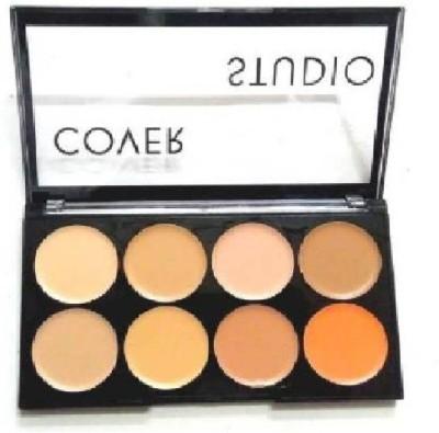 nnbb Highlighter Palette Brighten Highlight Contour Easy to Wear Long Lasting Highlighter (Multi) Concealer(MULTICOLOUR, 30 g)