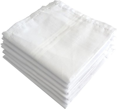 Akin 100% Cotton Premium Collection Handkerchiefs Hanky For Men - Pack of 6 - White XXL King Size. [