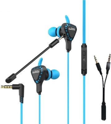 RPM Euro Games Gaming Earphone Headphone for PS4, Xbox One, Nintendo Switch, PC, Mobile Phone With Mic Wired Gaming Headset Wired Headset Gaming Headphone(Blue, Black, Wired in the ear)