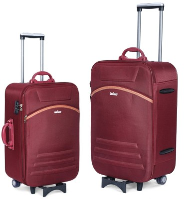 LeeRooy trolley BG02MAROON 98 Expandable Cabin   Check in Luggage   26 inch LeeRooy Suitcases