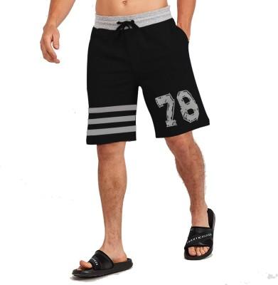 JUGULAR Printed Men Black Regular Shorts