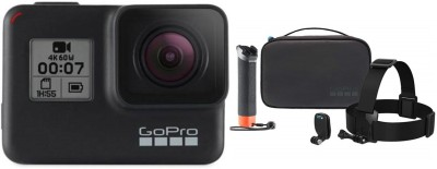 GoPro Hero 7 black with adventure kit Sports and Action Camera(Black, 12 MP)