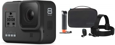GoPro Hero8 black with adventure kit Sports and Action Camera(Black, 12 MP)