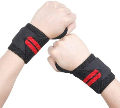 S&P TechoWorld Wrist Support Band for Gym Workout and , Weightlifting for Men, Women Wrist Support(Black, Red)