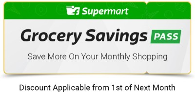 Grocery Savings Pass - 3 Months (E-Mail Delivery Only) Get 3 Months (Rs. 100 off on Rs. 1000 for next 3 month)
