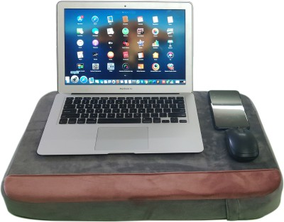 Hiputee Wood Portable Laptop Table(Finish Color - Grey-Peach)