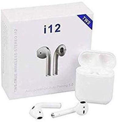 SNEEZE i12 TWS with Charging Case Wireless Bluetooth Headset(White, True Wireless)