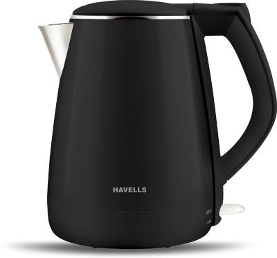 HAVELLS Aqua plus 1500w Electric Kettle(1.2 L, Black)