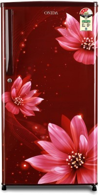 Onida 190 L Direct Cool Single Door 3 Star (2020) Refrigerator(FLORAL RED, RDS1903R)