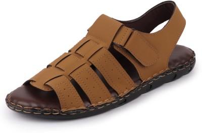 FAUSTO Dress Outdoor Men Tan Sandals FAUSTO Sandals   Floaters
