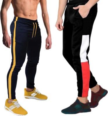 FastColors tracks pants combo lower men mens wear boys Solid Men Black Track Pants