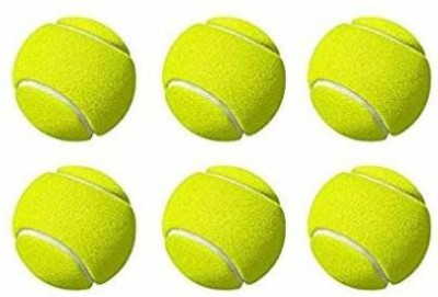 Willage Tennis Ball Light Weight Green Color,(Pack of 6) Cricket Tennis Ball (Pack of 6)