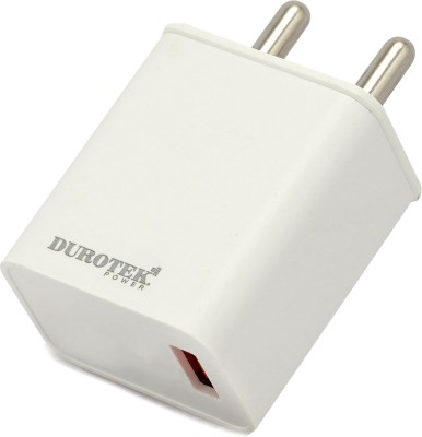 Durotek Power Fast Charger1 3.1 A Mobile Charger with Detachable Cable White Durotek Power Wall Chargers