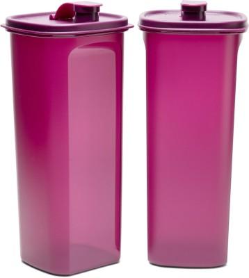 Tupperware Fridge Bottle Slim Line 2000 ml Bottle(Pack of 2, Pink, Plastic)