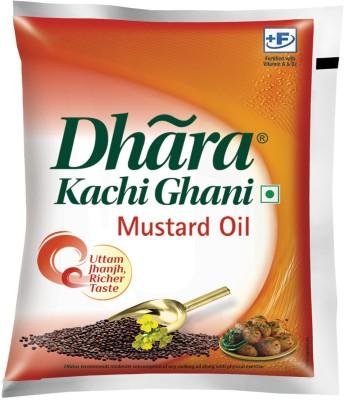 [Flipkart Supermart] Dhara Kachi Ghani Mustard Oil Pouch  (500 ml)