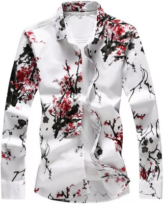 FABFIZA Cotton Silk Blend Floral Print Shirt Fabric(Unstitched)