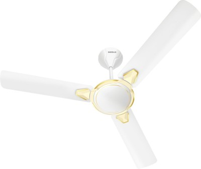 Havells Equs 1200 mm 3 Blade Ceiling Fan  (White Pearl Ivory, Pack of 1)