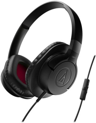 Audio Technica ATH-AX1iS BK Wired Headset with Mic(Black, Over the Ear) 1