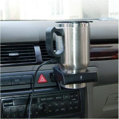 JASH ENTERPRISE electric car mug Stainless Steel Stainless Steel Stainless Steel (600 ml) Stainless Steel Coffee Mug(600 ml)