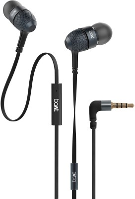 BoAt BassHeads 220 Wired Headset(Black, In the Ear)