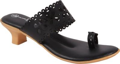 Olive Fashion Women Black, Beige Heels