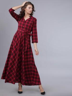 Tokyo Talkies Women Maxi Red Dress