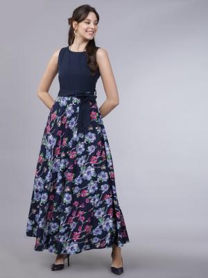Tokyo Talkies Women A-line Blue Dress