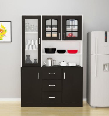 Barewether Engineered Wood Kitchen Cabinet(Finish Color - Wenge With White)
