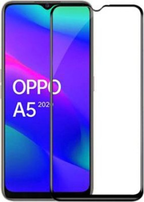 king guard Edge To Edge Tempered Glass for Oppo A5 2020(Pack of 1)