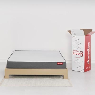 Duroflex Livein 6 inch Single High Resilience (HR) Foam Mattress(Vacuum Packed)