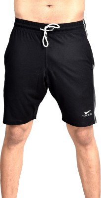 TOM BURG Solid Men Black Basic Shorts