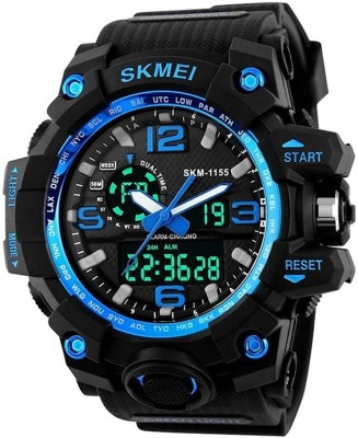 Skmei skm-1155-Blue New design Analog-Digital Watch - For Men