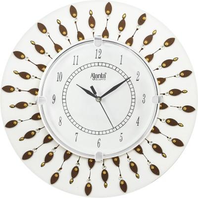 Ajanta Analog 30 cm X 30 cm Wall Clock  (Brown, With Glass)