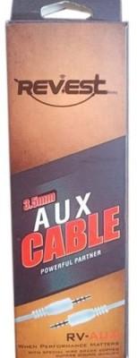 revest RV AUX 1.2 m Micro USB Cable Compatible with mobile phone, White, One Cable revest Mobile Cables