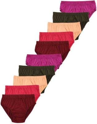kandira creation Women Hipster Multicolor Panty(Pack of 10)